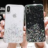 Блискучий чохол з срібною фольгою Samsung Galaxy A70/A705, фото 2