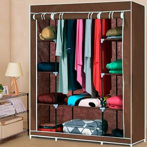 Шкаф тканевый HCX-153NT,гардероб текстильный на 3 секции
