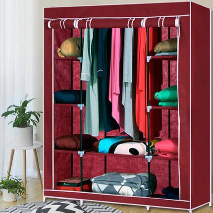 Шкаф тканевый HCX-153NT,гардероб текстильный на 3 секции, фото 2