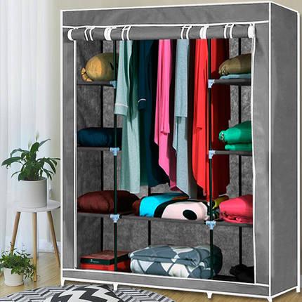Шафа тканинний HCX-153NT,гардероб текстильний на 3 секції, фото 2