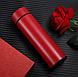 Термос с индикацией температуры CUP Smart Бутылка для воды напитков стальная 500 мл Красный, фото 2