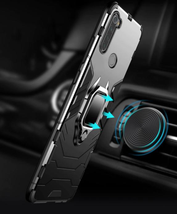 Противоударный бампер с магнитом и кольцом Xiaomi Redmi Note 8