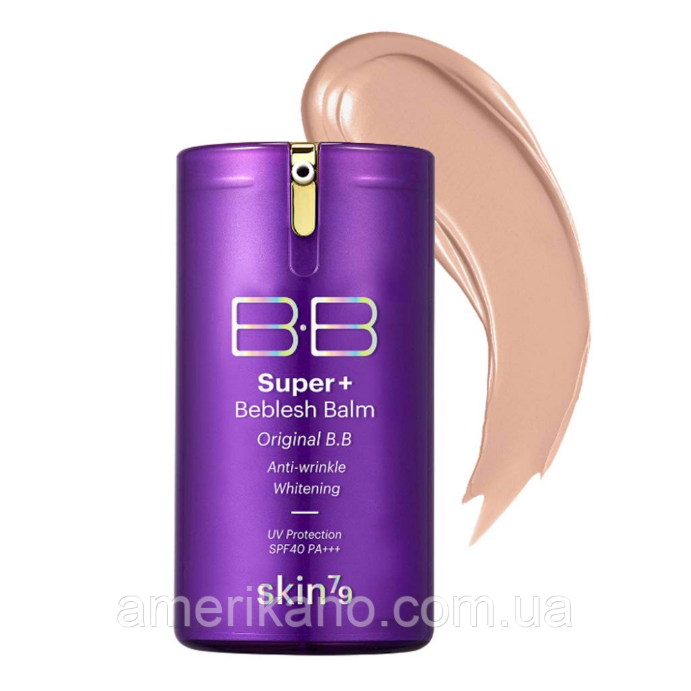 Омолаживающий универсальный BB крем SKIN79 Super+ Beblesh Balm SPF40 PA+++ Purple, 40 мл