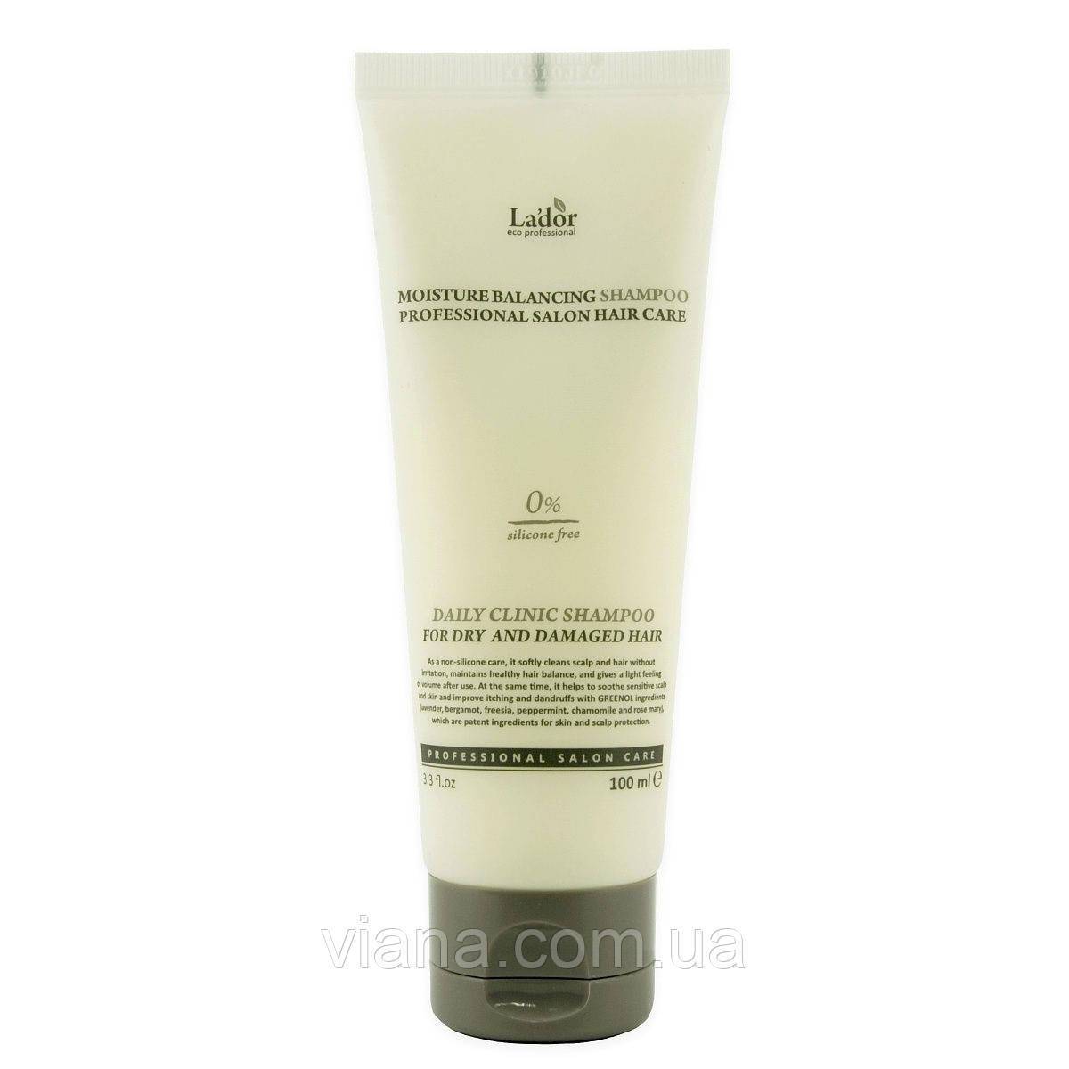 Увлажняющий бессиликоновый шампунь Lador Moisture Balancing Shampoo 100 мл