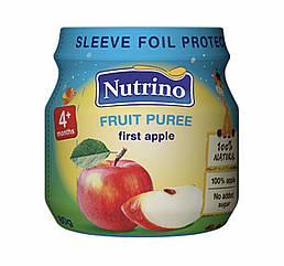 Nutrino Фруктовое пюре из яблок  80 г с 4 месяцев