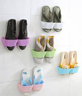Настінний органайзер для взуття - білий, зелений, голубий / Настенный органайзер для обуви, фото 1