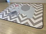 """Безкоштовна доставка! Килим в дитячу """"Мама слоник і малюк"""" утеплений килимок мат (1.5*2 м), фото 4"""