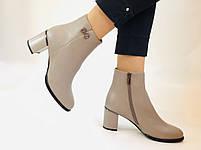 Жіночі осінні черевики. На середньому каблуці. Натуральна шкіра.Molka. Р. 37 38 39.40.Vellena, фото 3