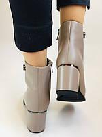 Жіночі осінні черевики. На середньому каблуці. Натуральна шкіра.Molka. Р. 37 38 39.40.Vellena, фото 10