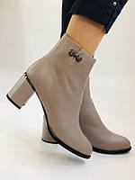 Жіночі осінні черевики. На середньому каблуці. Натуральна шкіра.Molka. Р. 37 38 39.40.Vellena, фото 7