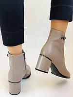 Жіночі осінні черевики. На середньому каблуці. Натуральна шкіра.Molka. Р. 37 38 39.40.Vellena, фото 4