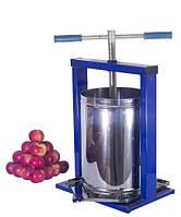 Пресс винтовой для отжима сока из фруктов ягод и овощей Вилен 10 литров (нержавейка)