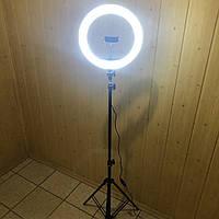 Кольцевая лампа 33 см со штативом на 2м для телефона селфи кольцо световое кольцевой светодиодное led блогеров