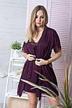 Комплект для дома пеньюар + халат женский К502н Сливовый XS (40-42), фото 3