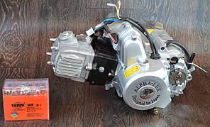Двигатель на мопед Альфа; Дельта 110 куб, механика + ПОДАРОК аккумулятор
