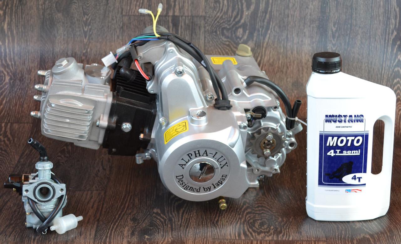 Двигатель на мопед Альфа; Дельта 110 куб, механика + ПОДАРОК масло и карбюратор