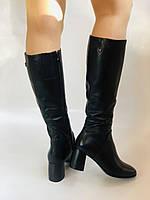 Женские осенне-весенние сапоги на среднем каблуке. Натуральная кожа.Высокое качество. Р 37.38.40 Polann, фото 6