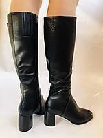 Женские осенне-весенние сапоги на среднем каблуке. Натуральная кожа.Высокое качество. Р 37.38.40 Polann, фото 2