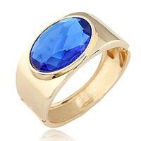 Браслет золотой с синим кристаллом