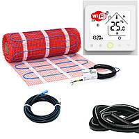 Нагревательный мат для теплого пола HeatTech HTMAT с WiFi терморегулятором 200 Вт 1 м.кв (HTMAT-240-1.0)