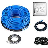 Нагревательный кабель для теплого пола HeatTech HTCBL с механическим терморегулятором 200 Вт 10 м