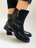 Жіночі черевики. На середньому каблуці. Натуральна шкіра.Висока якість. Polann. Р. 36, 38,39, 40.Vellena, фото 6