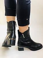 Жіночі черевики. На середньому каблуці. Натуральна шкіра.Висока якість. Polann. Р. 36, 38,39, 40.Vellena, фото 3
