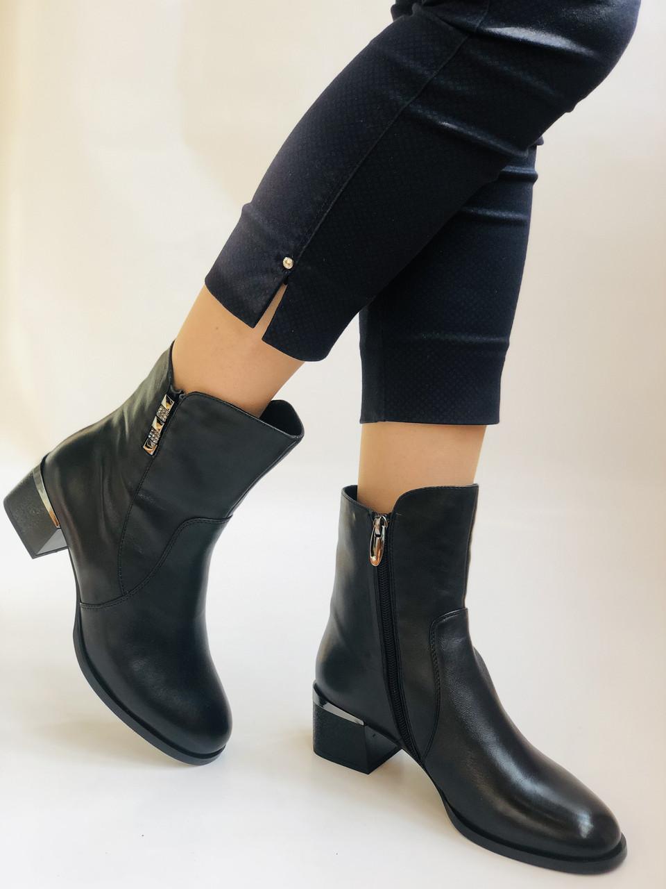 Жіночі черевики. На середньому каблуці. Натуральна шкіра.Висока якість. Polann. Р. 36, 38,39, 40.Vellena