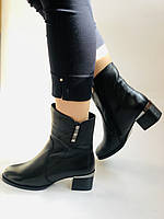 Жіночі черевики. На середньому каблуці. Натуральна шкіра.Висока якість. Polann. Р. 36, 38,39, 40.Vellena, фото 10