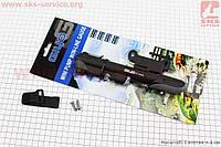 Насос пластмассовый с узким манометром, черно-серый GP-41S, фото 1