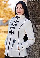 Белое пальто женское,короткое
