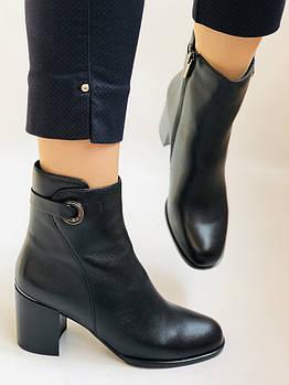 Женские ботинки. На среднем каблуке. Натуральная кожа. Высокое качество.  Р. 37. 38. Vellena