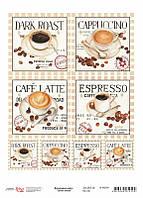 "Декупажная карта Coffee break ""Rosa Start"""