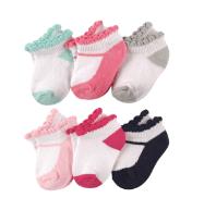 """Набор носков для новорожденных """"Балеринка"""" (6 пар) на 0-6 мес. и 12-24 мес."""