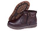 Мужские кожаные зимние ботинки Kristan City Traffic Brown, фото 5