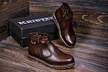 Мужские кожаные зимние ботинки Kristan City Traffic Brown, фото 8