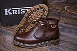 Мужские кожаные зимние ботинки Kristan City Traffic Brown, фото 9