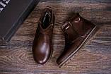 Мужские кожаные зимние ботинки Kristan City Traffic Brown, фото 10