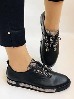 Осенние, высокого качества женские туфли-мокасины.Натуральная кожа.Турция. 36-40 Vellena