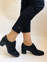 Стильні жіночі туфлі.Натуральна шкіра.Середній каблук. Polann.Р. 38,40, фото 4