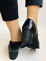 Стильні жіночі туфлі.Натуральна шкіра.Середній каблук. Polann.Р. 38,40, фото 5