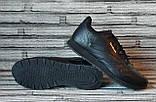 Мужские кожаные кроссовки Reebok Classik. Демисезонные черные кроссовки. Индонезия. Реплика., фото 6