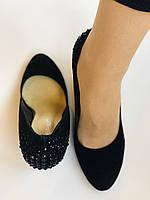 Жіночі модельні туфлі-човники на скелі.Blue Tempt. Натуральна замша. Чорний Розмір 39.40, фото 10