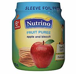 Nutrino Фруктовое пюре  яблоко с печеньем  125 г с 6 месяцев