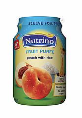 Nutrino Фруктовое пюре с персиком и рисом 125 г с 4 месяцев