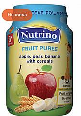 Nutrino Фруктовое пюре с яблоком,бананом, грушей и  злаками 125 г с 6 месяцев