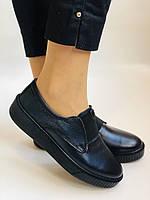 Стильные женские туфли- слипоны. Натуральная кожа. Темно-синий. Турция. р. 36, 37, 39 Vellena, фото 3