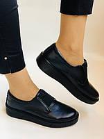 Стильные женские туфли- слипоны. Натуральная кожа. Темно-синий. Турция. р. 36, 37, 39 Vellena, фото 5