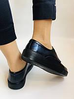 Стильні жіночі туфлі - сліпони. Натуральна шкіра. Темно-синій. Туреччина. р. 36, 37, 39 Vellena, фото 10