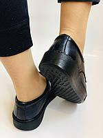 Стильні жіночі туфлі - сліпони. Натуральна шкіра. Темно-синій. Туреччина. р. 36, 37, 39 Vellena, фото 8